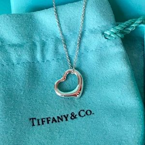 Tiffany & Co. Silver Peretti Open Heart Necklace